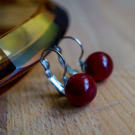 Dřevěné náušnice Balls