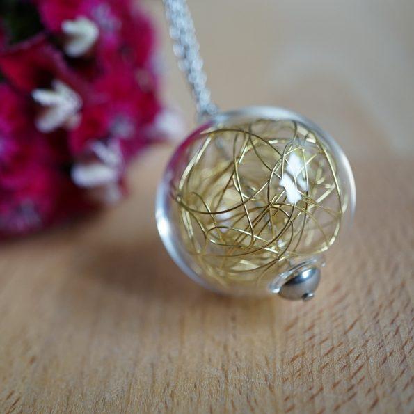 Skleněný náhrdelník Wired Long