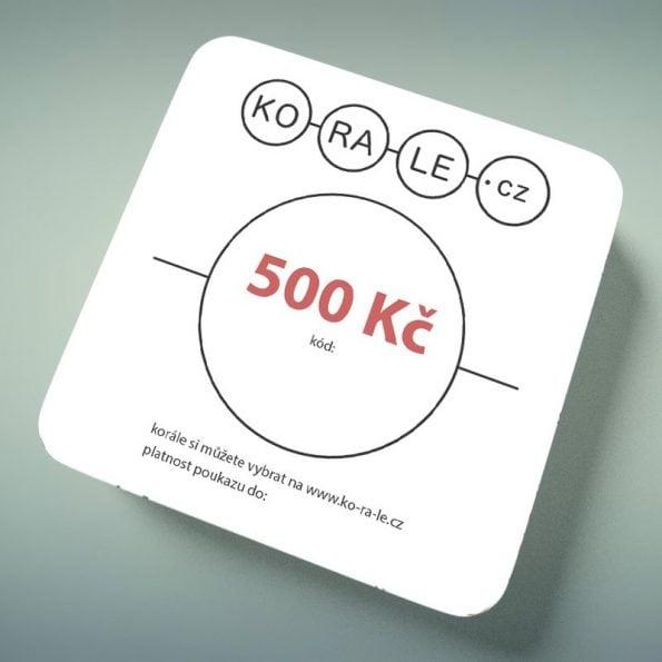 Dárkový poukaz na 500