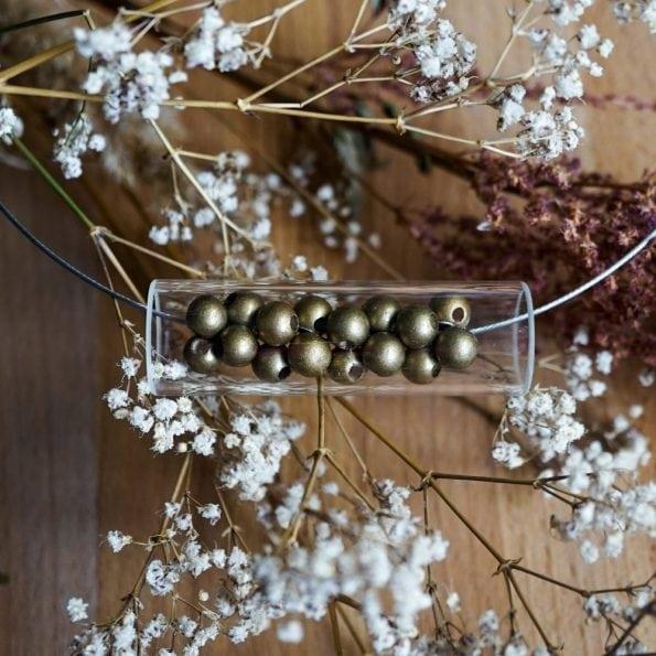 Designový náhrdelník Corn zlatý