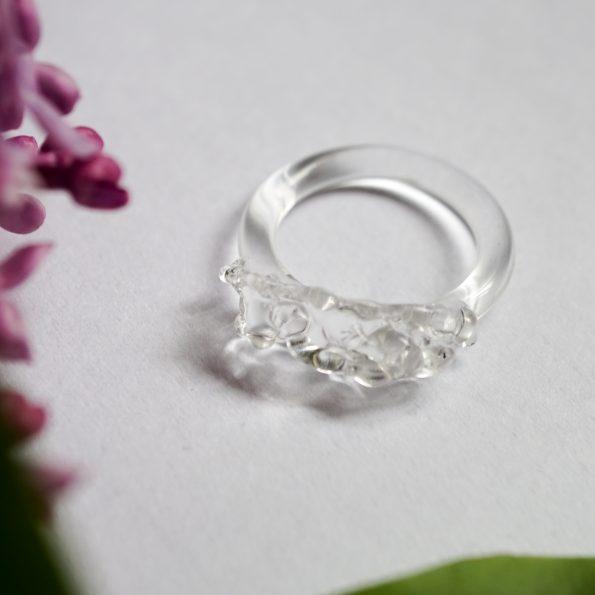 Skleněný prstýnek Iceberg
